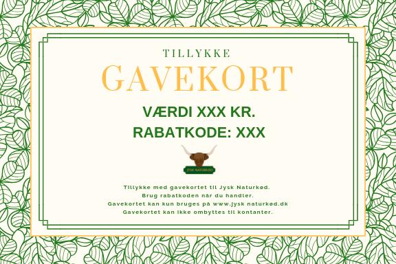 Fersk Gavekort 1000 kr. – Jysk Naturkød EI-26